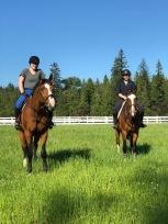 Taytum and Anna having fun at the barn