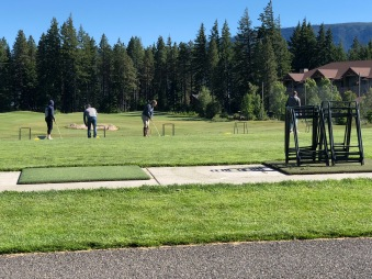 "Had some ""Free Time"" so we went to the Driving Range"
